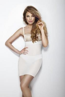 Halka SOFTLY DRESS wyszczuplająca biała