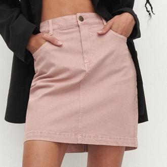 Reserved - Bawełniana spódnica mini - Różowy