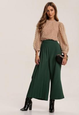 Zielone Spodnie Culottes Sarnixi