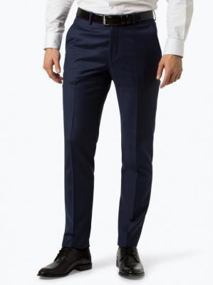 Andrew James New York - Męskie spodnie od garnituru modułowego – Carter, niebieski