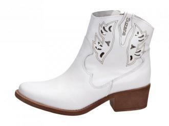 Białe POLSKIE kowbojki damskie SUZANA 4031