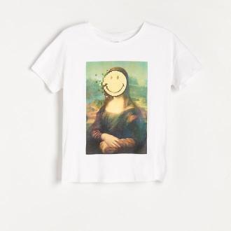 Reserved - Koszulka z nadrukiem Smiley® - Biały