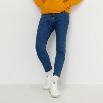 House - Jeansy carrot fit basic - Niebieski