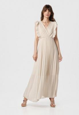 Beżowa Sukienka Elulia