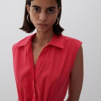Reserved - Sukienka o koszulowym kroju - Różowy