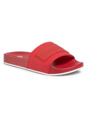 Desigual Klapki Slide Logomania 20SSHP04 Czerwony