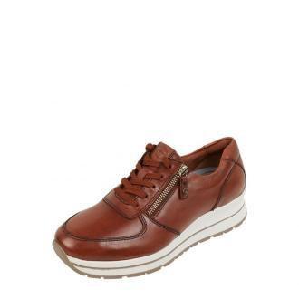 Sneakersy ze skóry i materiału tekstylnego