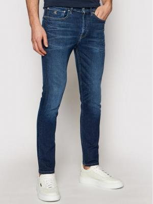 Calvin Klein Jeans Jeansy J30J317658 Granatowy Skinny Fit