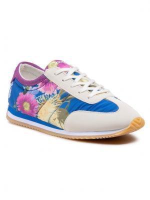 Desigual Sneakersy Royal Flowers 21SSKA10 Niebieski