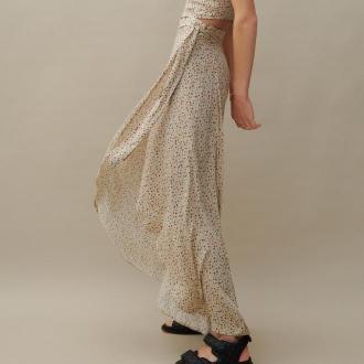 Reserved - Wzorzysta spódnica z wiskozy - Wielobarwny
