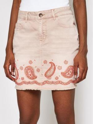 Desigual Spódnica jeansowa Billi 21SWFN01 Różowy Regular Fit