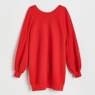Reserved - Dzianinowa sukienka - Czerwony