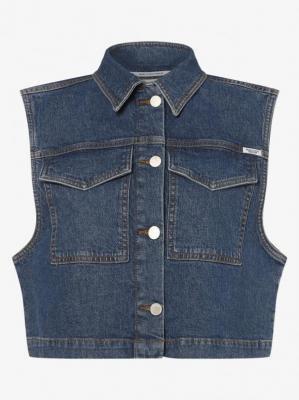 Marc O'Polo Denim - Damska kamizelka jeansowa, niebieski