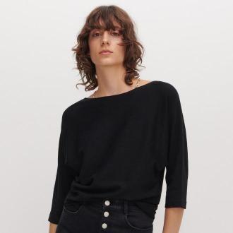 Reserved - Sweter nietoperz - Czarny