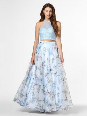 Mascara - Damska sukienka wieczorowa, niebieski