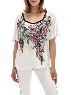 Kimonowa bluzka z cekinową aplikacją Desigual MARY REP