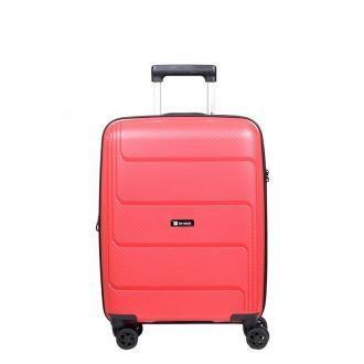 walizka kabinowa Słoń Torbalski Brave 55 cmposzerzana czerwona