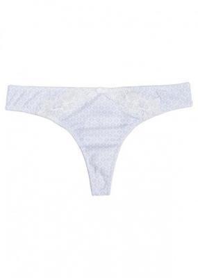 Stringi bonprix niebiesko - biały