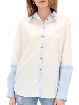 Koszula z haftowaniem na kołnierzyku Desigual LILIANE