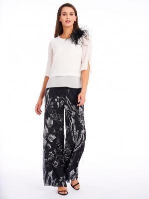 Powiewne spodnie w kwiaty Potis & Verso HYDRA
