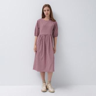 House - Sukienka midi w kratę - Wielobarwny