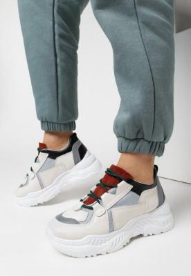 Biało-Beżowe Sneakersy Evitheis