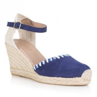 Damskie sandały espadryle zamszowe