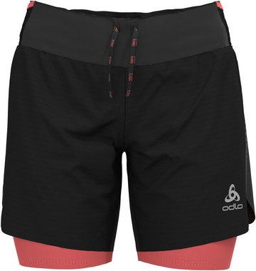 """Odlo Axalp Trail 6"""" 2-in-1 Shorts Women, czarny XS 2021 Szorty do biegania"""