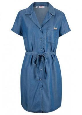 Sukienka dżinsowa TENCEL™ Lyocell, z paskiem bonprix niebieski