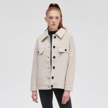 Cropp - Koszulowa kurtka oversize - Beżowy