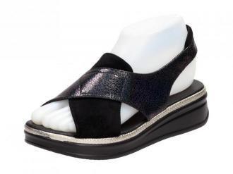 Czarne sandały damskie SERGIO LEONE SK029