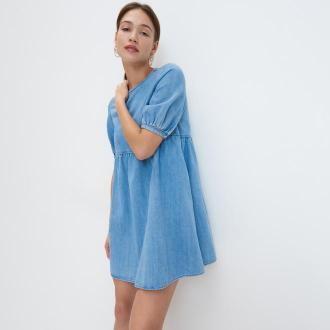Mohito - Jeansowa sukienka - Niebieski