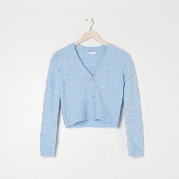 Sinsay - Sweter rozpinany - Niebieski