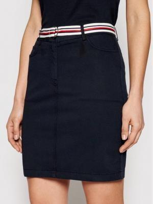 Tommy Hilfiger Spódnica jeansowa Rome WW0WW30320 Granatowy Slim Fit