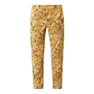 Spodnie cargo z wzorem w liście model 'Rich'