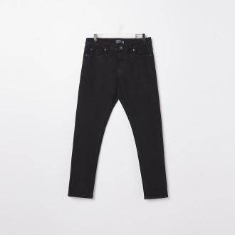 Sinsay - Spodnie jeansowe slim fit - Czarny