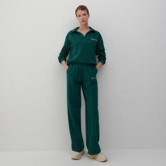 Reserved - Szerokie spodnie w sportowym stylu - Zielony
