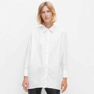 Reserved - Biała koszula oversize - Biały