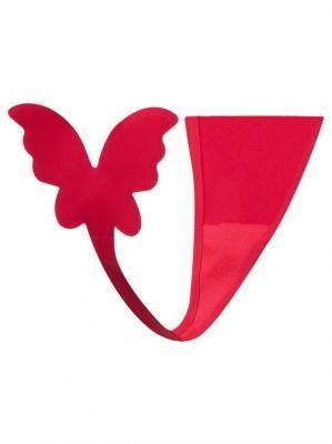 Majtki damskie samoprzylepne czerwone z motylem  XL
