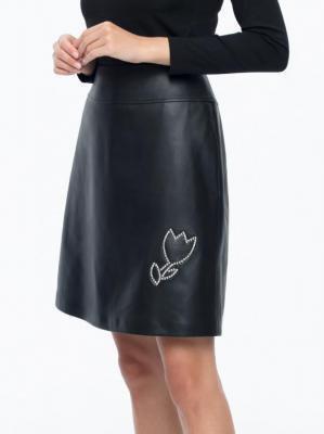 Trapezowa spódnica z aplikacją L'AF Nikki