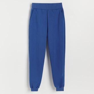 Reserved - Spodnie z bawełną organiczną - Niebieski