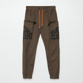 Cropp - Spodnie jogger cargo - Khaki