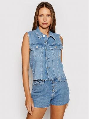 Calvin Klein Jeans Kamizelka Woven J20J217224 Niebieski Regular Fit