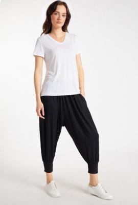 Luźne spodnie z wiskozy
