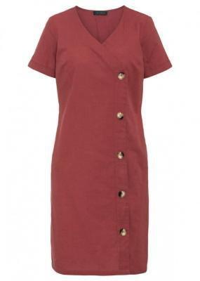 Sukienka bonprix czerwono-brązowy