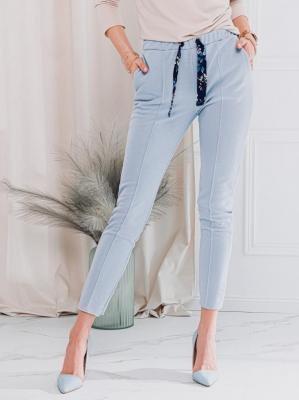 Spodnie damskie dresowe 047PLR - jasnoniebieskie - XS/S