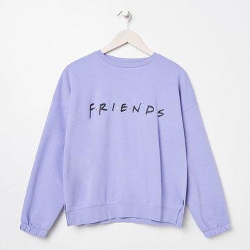 Sinsay - Bluza Friends - Różowy