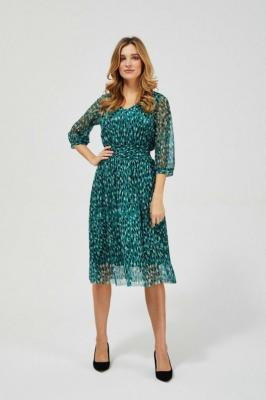 Elegancka sukienka midi zielona