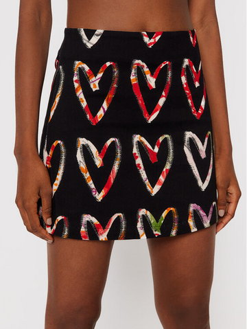 Spódnica mini Vincas 21WWFW15 Czarny Slim Fit