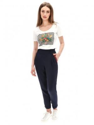 Spodnie z ozdobną taśmą przy kieszeniach L'AF ZUMM